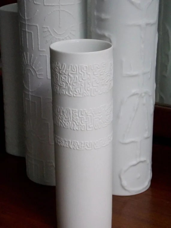 Porcelain White German Vase