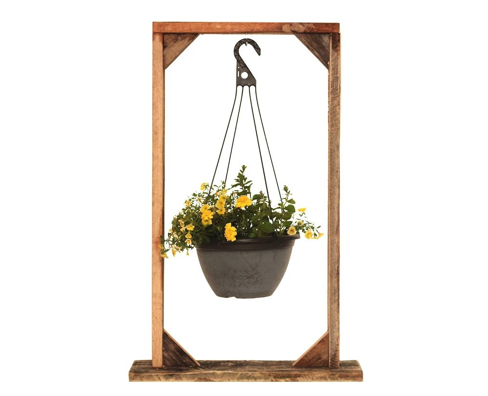 Plant Hanging Basket Stand Plant Stand by GrindstoneDesign on Hanging Stand For Plants  id=79621