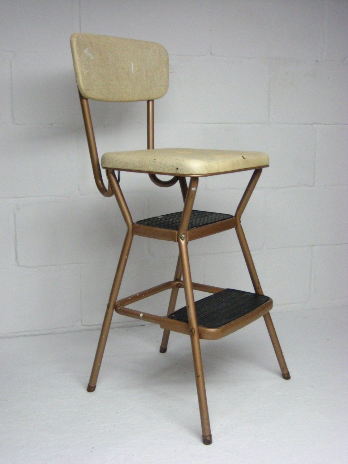 Vintage Kitchen Step Stool Cosco Kitchen Stool With Fold Up Seat Mid Century Step Stool