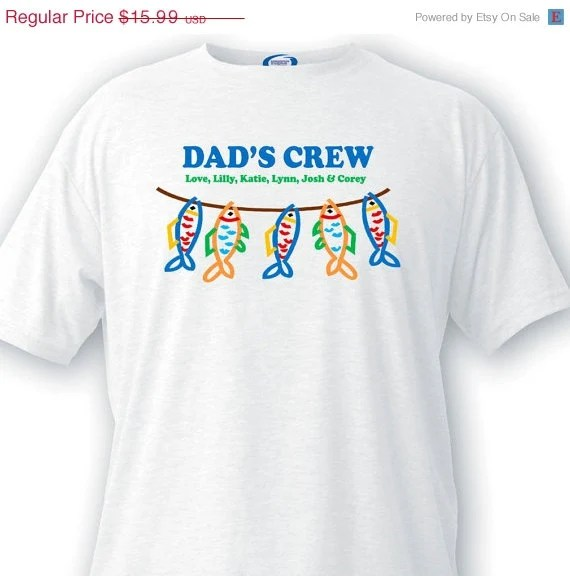 Personalized Father's Day T-Shirt Gifts for by CreativeByClair