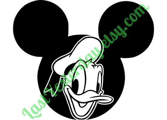 Download Donald Duck Mickey Head DIGITAL DOWNLOAD svg jpg by ...