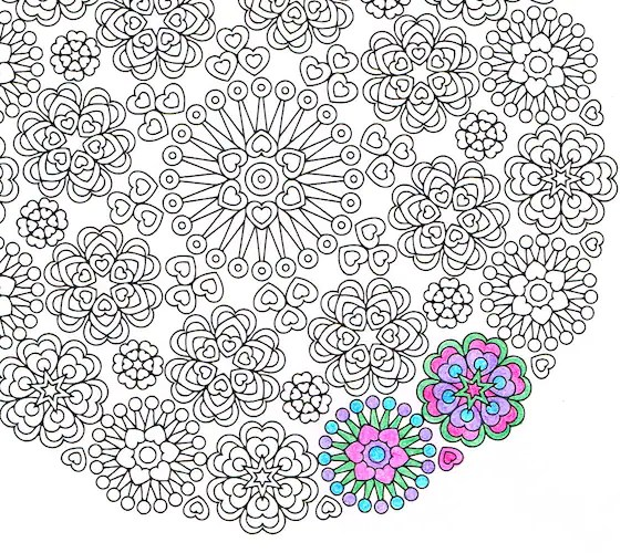 Mandala Coloring Page Lace Of Love Printable By CandyHippie