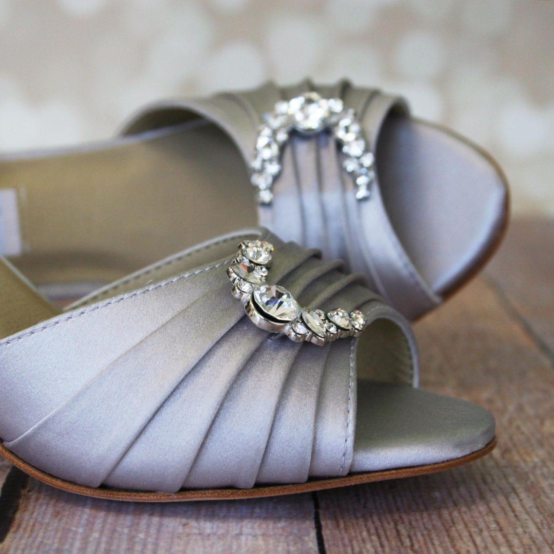 Silver Bridal Heels