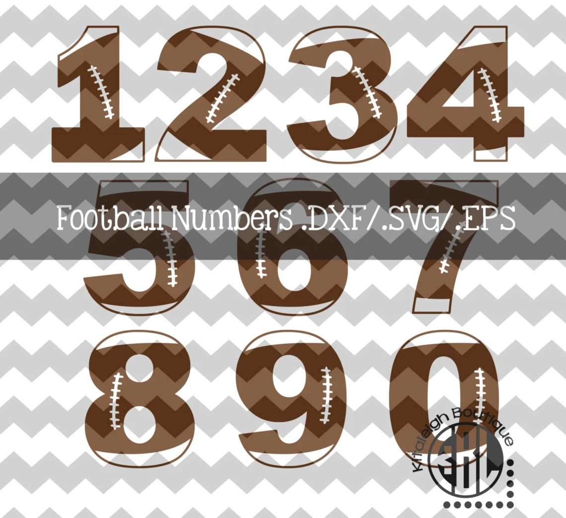 Download Football Numbers .DXF/SVG/.EPS File for use with your