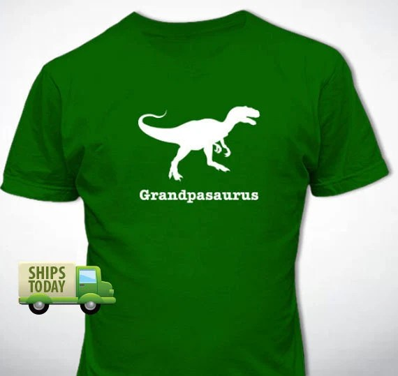 GRANDPASAURUS T-Shirt Personalized Father's Day Gift Many