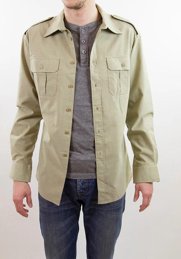 Military style shirt army shirt mens shirt long sleeve for Mens military style long sleeve shirts