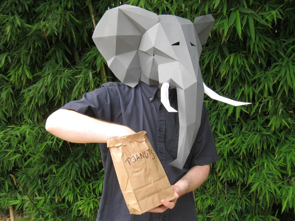 Make Your Own Elephant Mask With Just Paper And Glue Animal