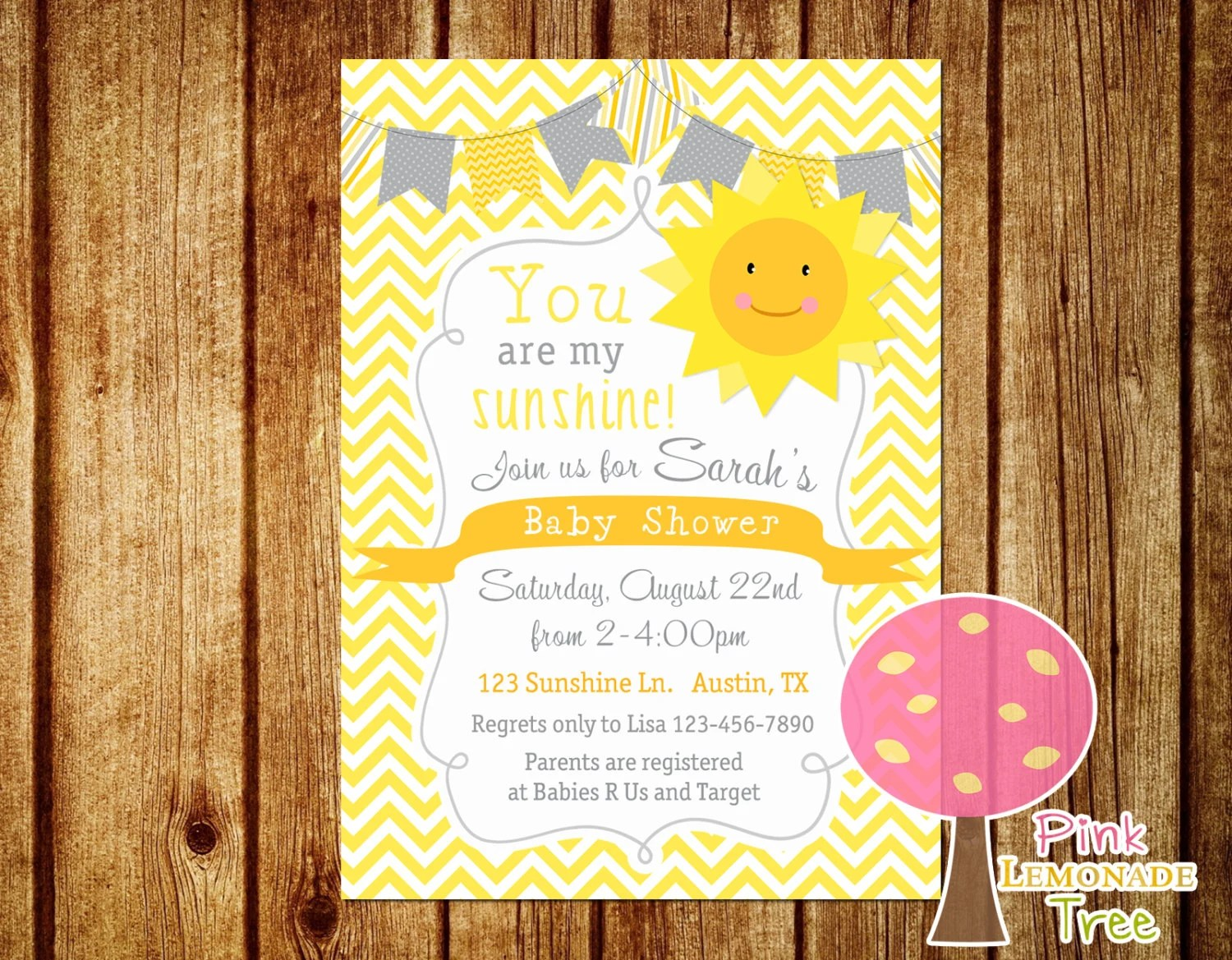 Baby Shower Invitations You Are My Sunshine