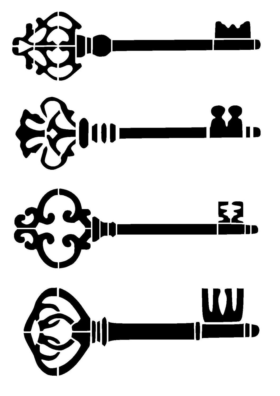 11 7 16 5 Vintage Keys Stencil A3 From Lovestencil On