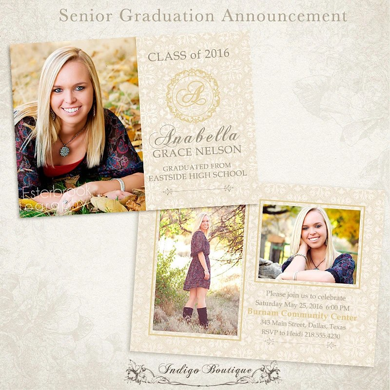 Senior Picture Invitations