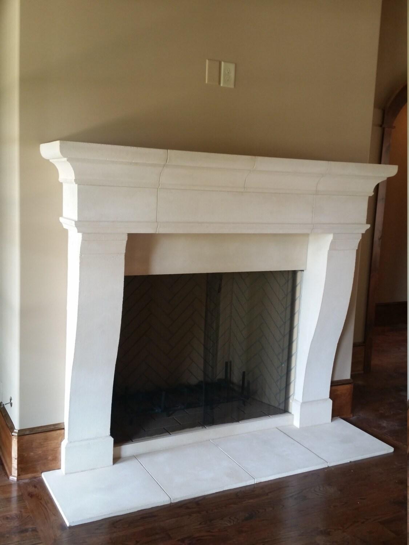 Cast Limestone Fireplace Surround