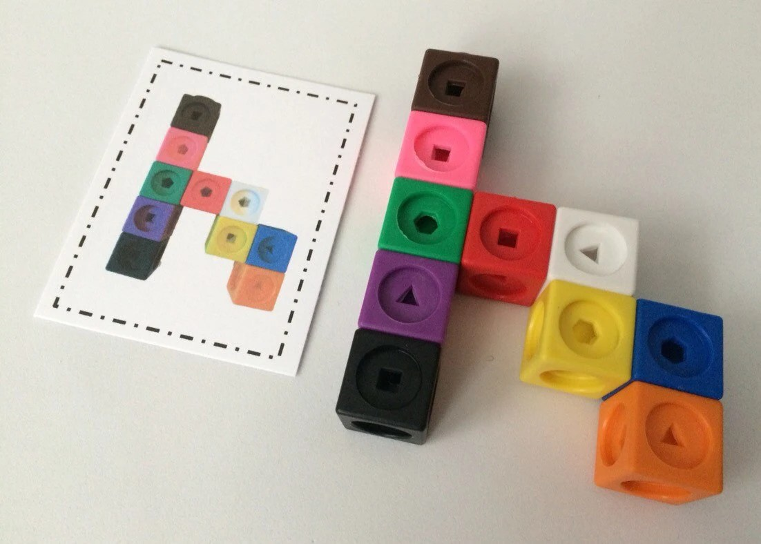 Snap Cubes With Pattern Cards Preschool By Keepingmykiddobusy