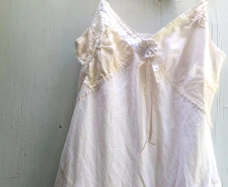 Off White Calvin Klein Shabby Dress Tall Wedding Bridesmaid