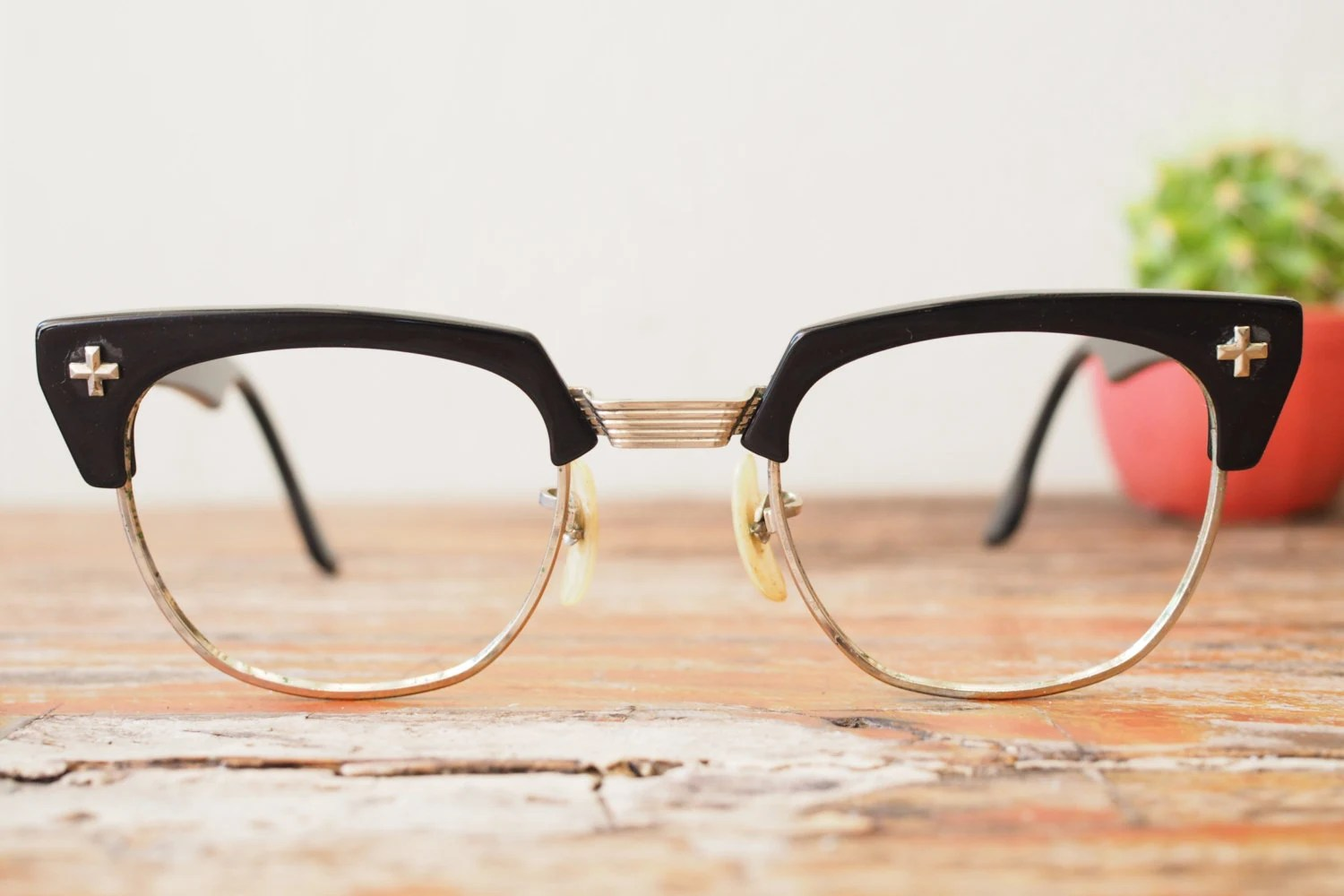 Vintage Bausch And Lomb Eyeglasses Club Master 1950 s Made ...