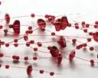 Beaded Acrylic Garland Spray - Ruby Red