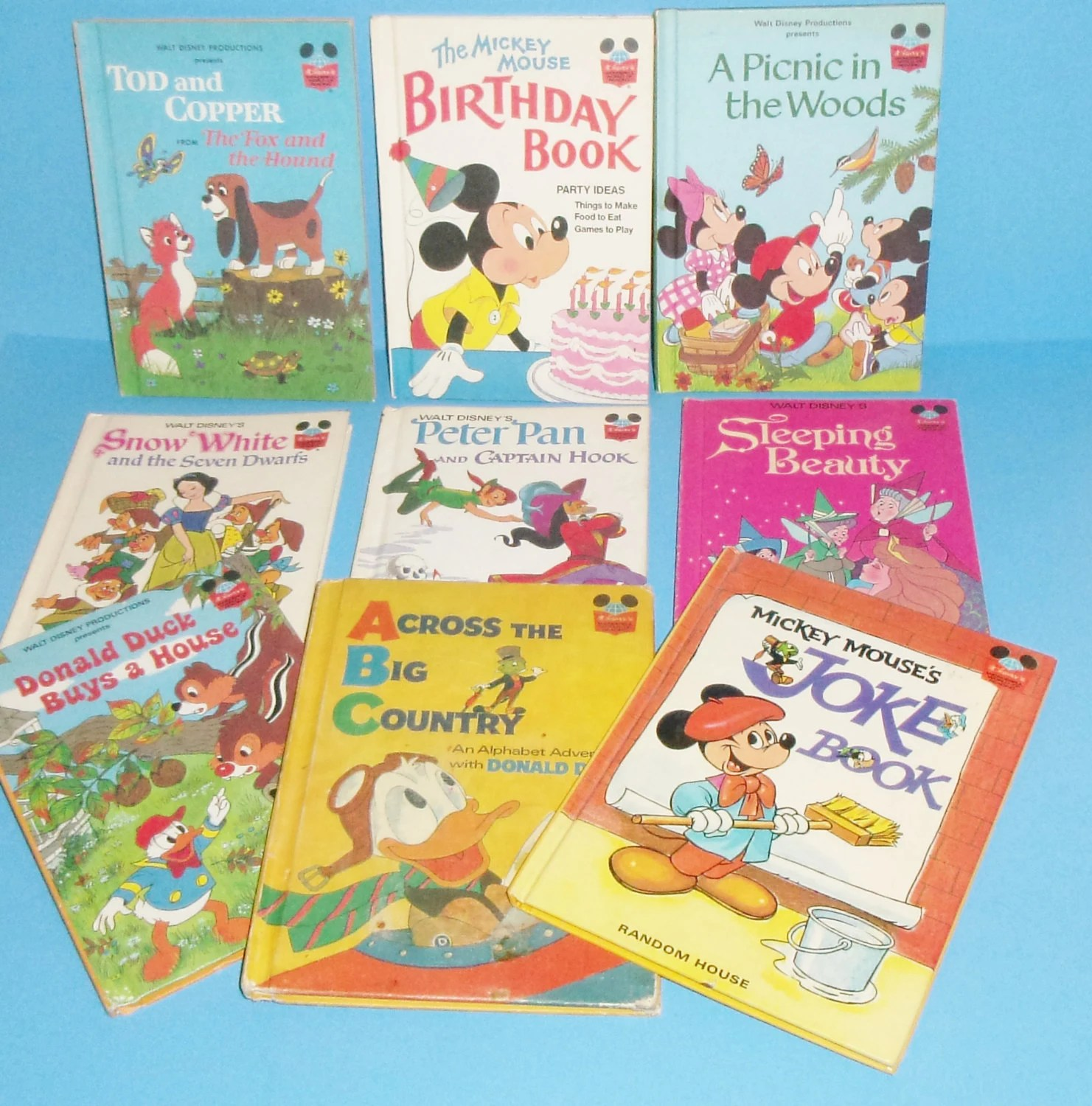 Disneys Wonderful World Of Reading Lot Of 9 Hardcover