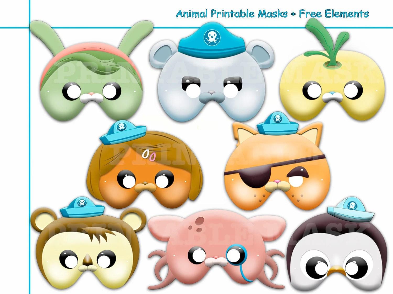 Unique Animal Printable Masks Birthday Hero Sea Kids