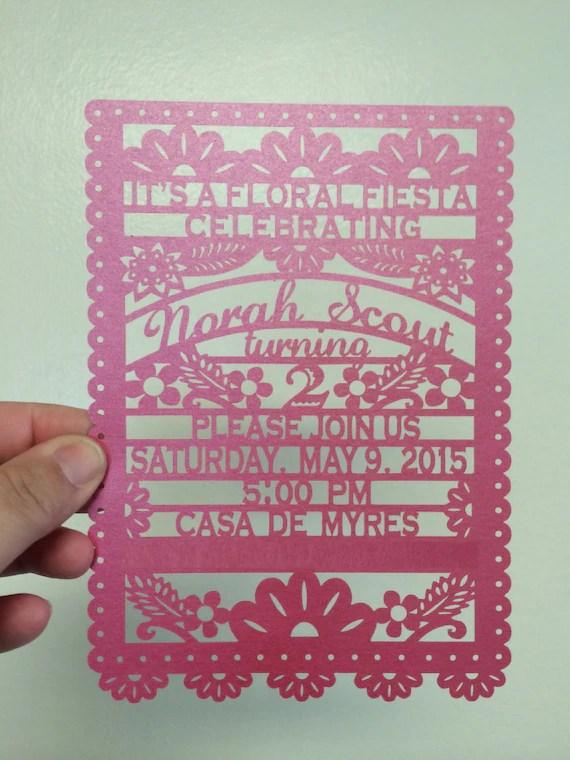 Papel Picado Laser Cut Wedding Invitation