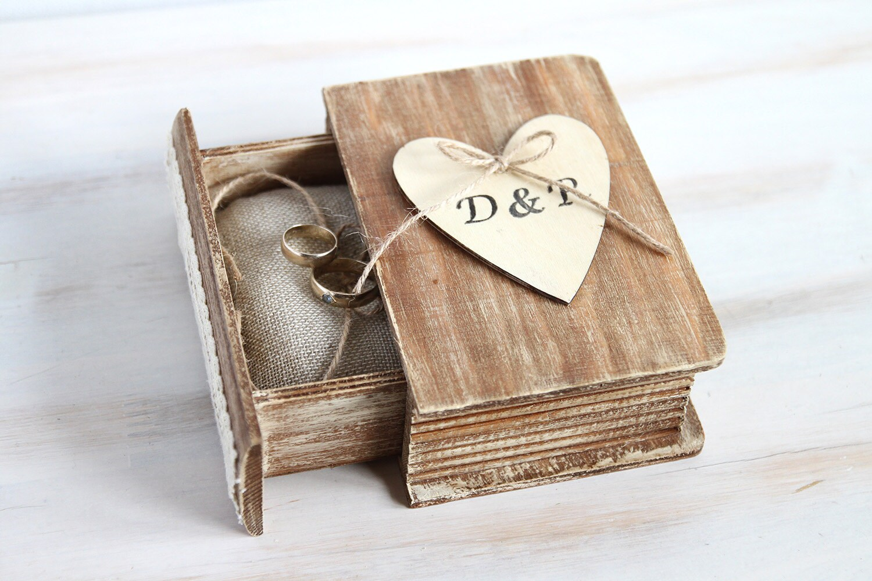 Wedding Ring Box Ring Bearer Box Custom Ring Pillow