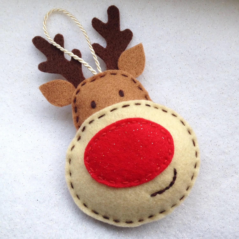 Reindeer Felt Templates Ornament