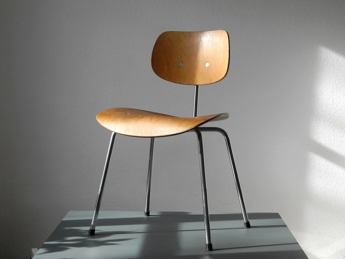 original 70er jahre egon eiermann se 68 stuhl mit seltenem. Black Bedroom Furniture Sets. Home Design Ideas