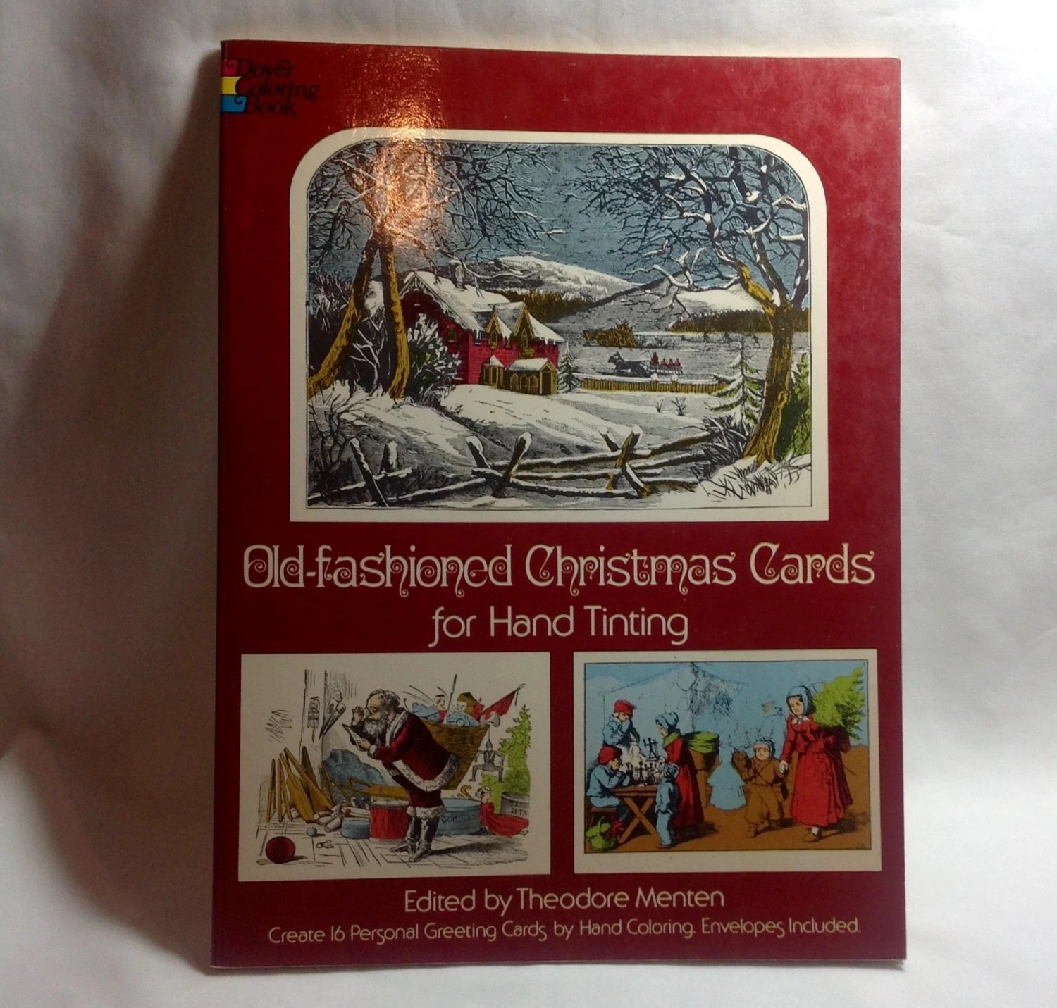 Vintage Old Fashioned Christmas Cards For Hand Tinting By