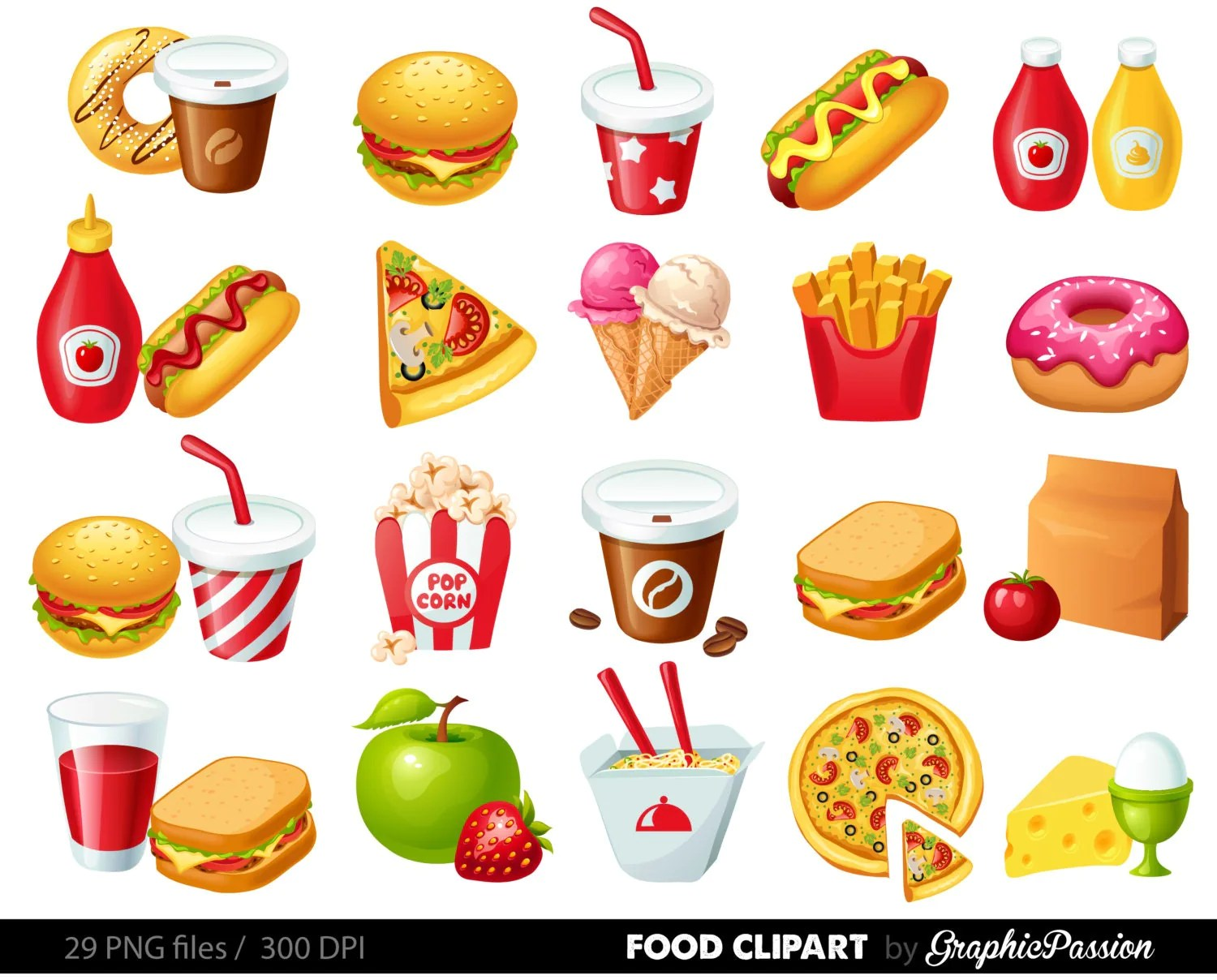 Fast Food Clipart Hamburger Clip Art Coffee Clip Art Food