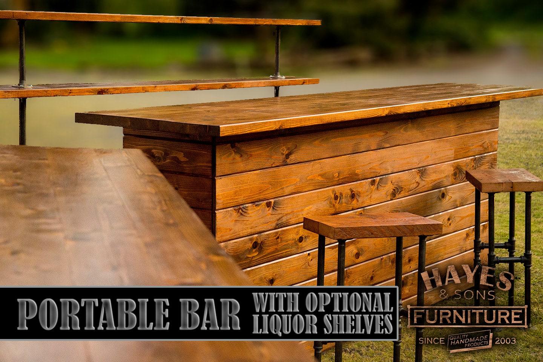 Cedar Portable Outdoor Bar NEW DIMENSIONS on Portable Backyard Bar id=72332