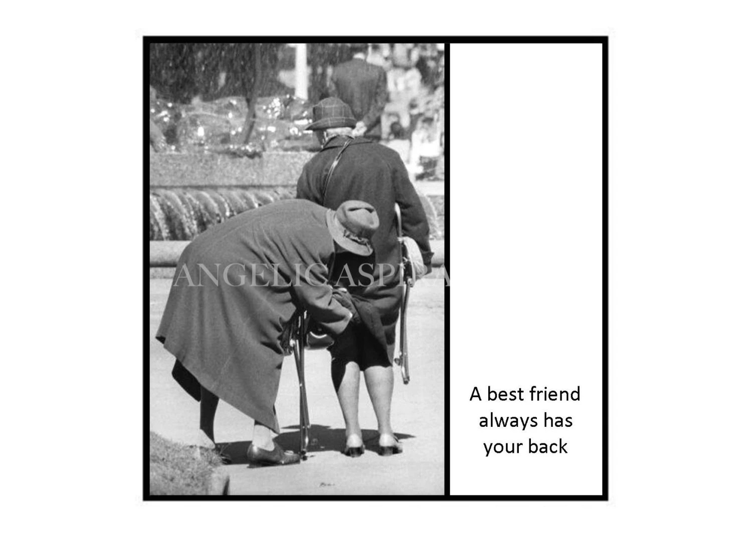 Vintage Inspired Magnet A Best Friend Always Has Your Back