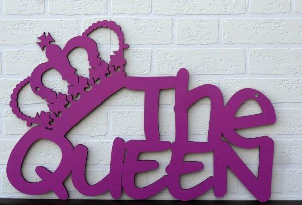 The Queen wood sign word art Wall art 23 x 15 x