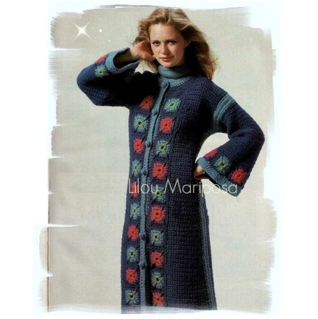 Long Coat Sweater Crochet Pattern
