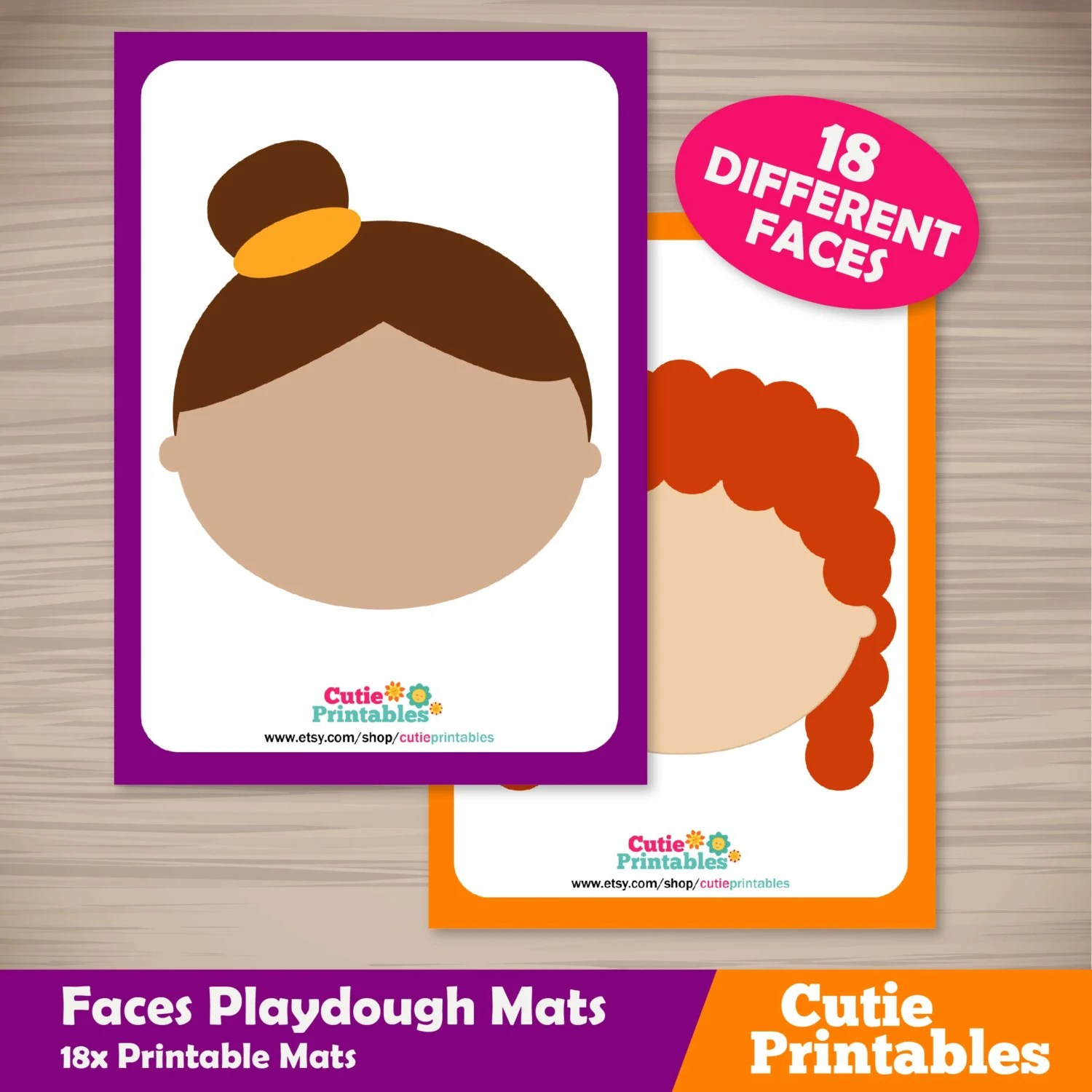 Faces Playdough Mats From Mylearningprintables On Etsy Studio