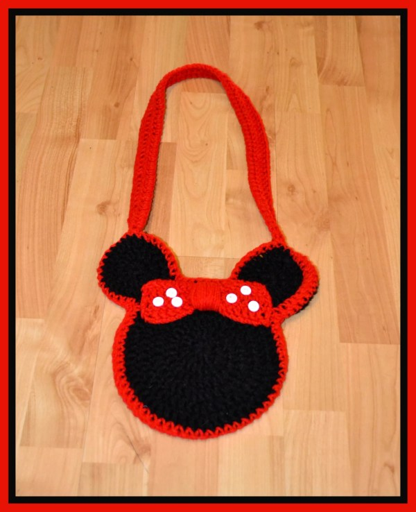 Items similar to Crocheted Minnie Mouse Purse on Etsy