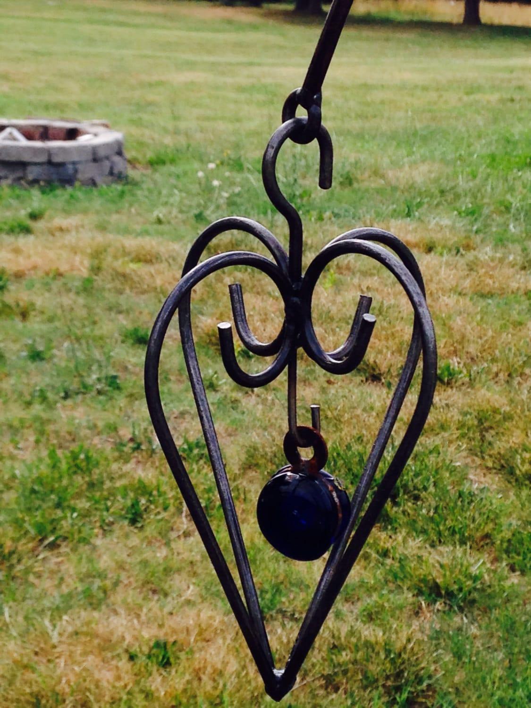Mali Heart yard art garden decor metal sculpture patio on Backyard Metal Art id=14446