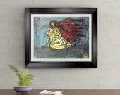 Woman Real Curves Signed Art Print of Signature Original By Rafi Perez