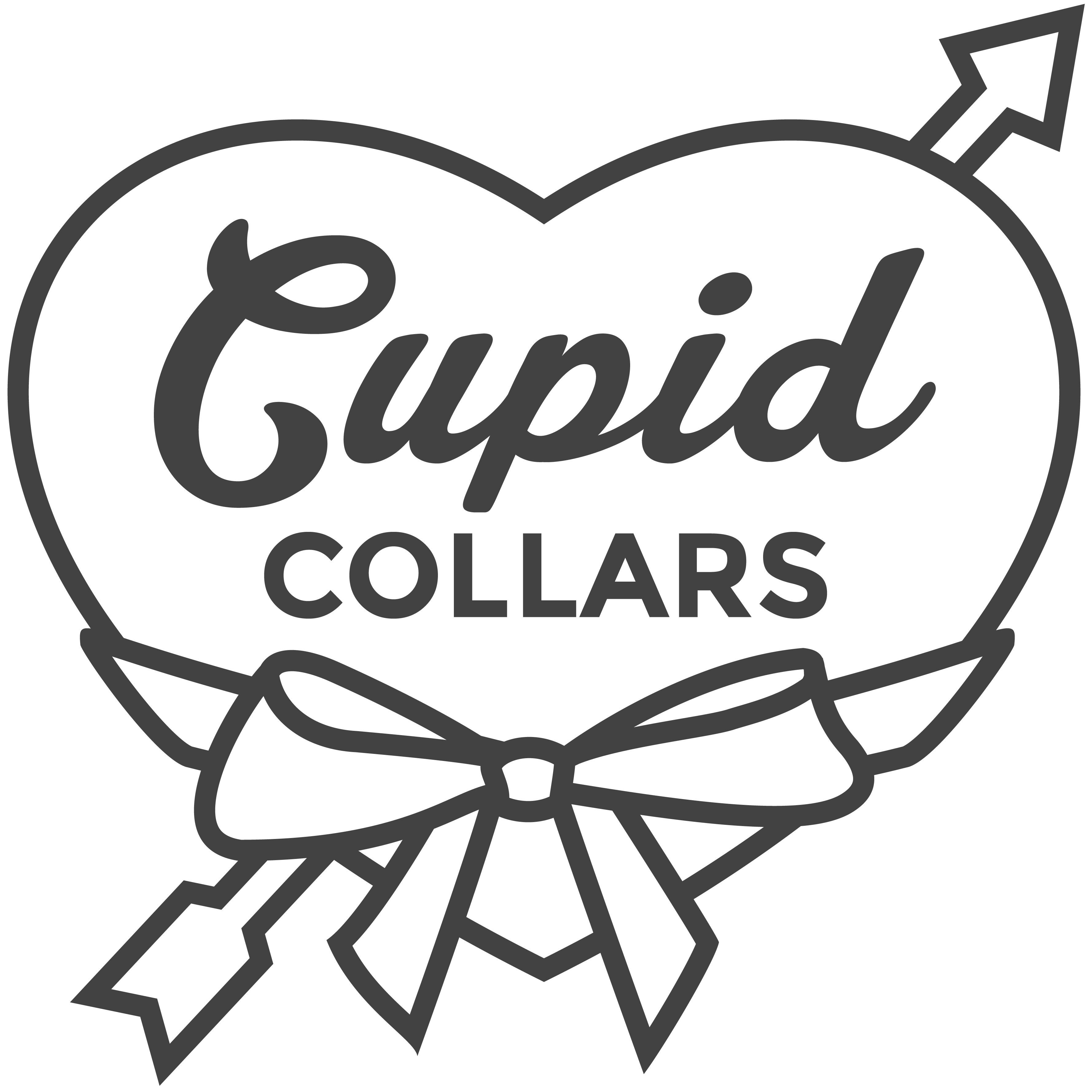 Silk Flower Dog Collars For Pets At Weddings By Cupidcollars