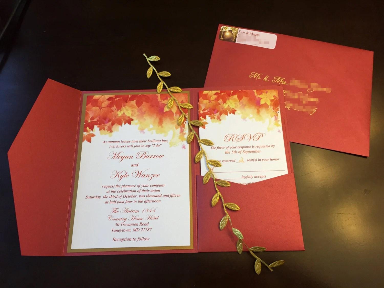 Funky Pocketfold Wedding Invitations Ornament - Invitations and ...