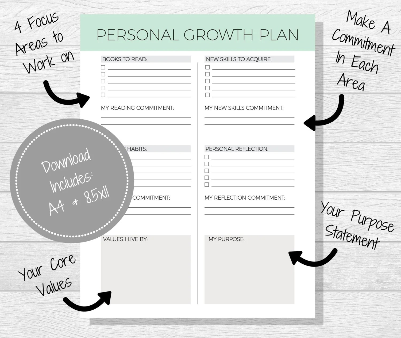 Personal Growth Plan Printable Personal Development Goal