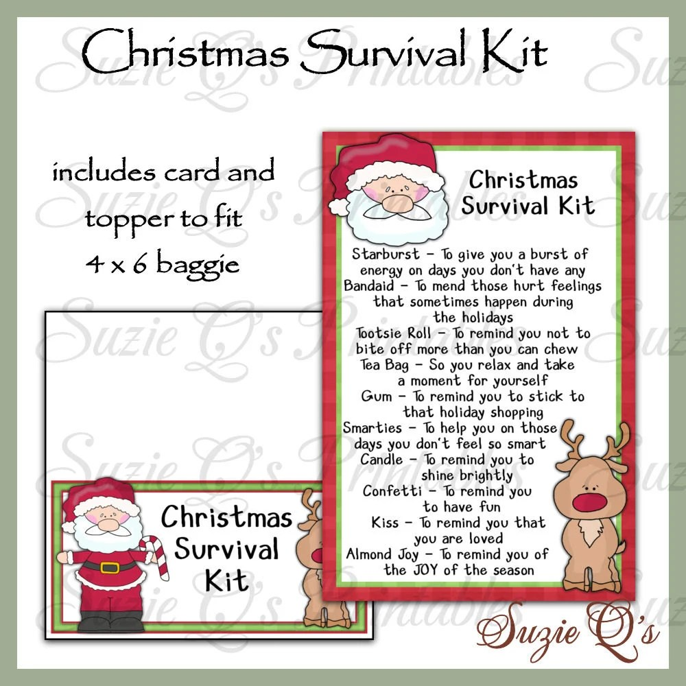 Christmas Survival Kit Includes Topper And Card Digital