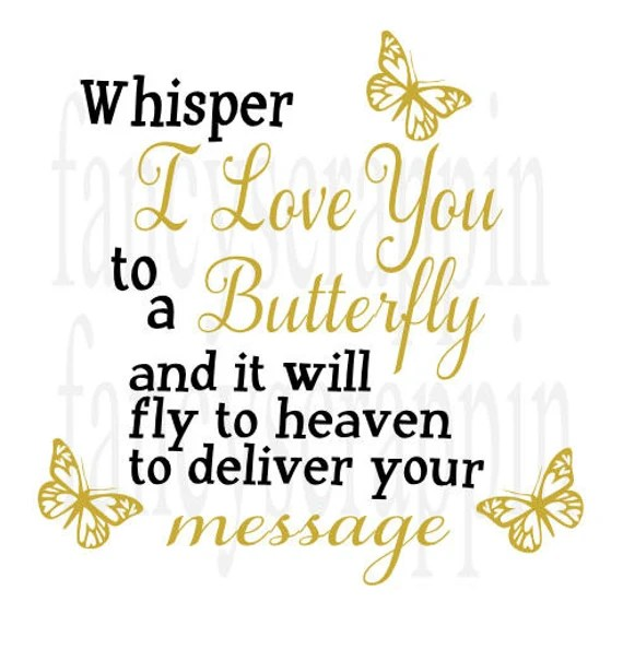 Download Whisper I Love You To A Butterfly SVG Cutting File Word Art