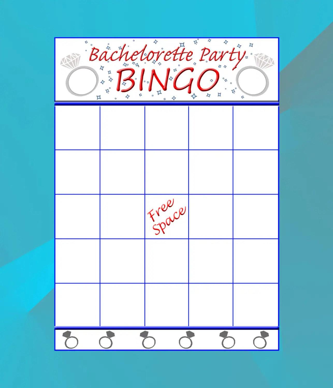Bachelorette Bingo Cards Game Instant Download Printable