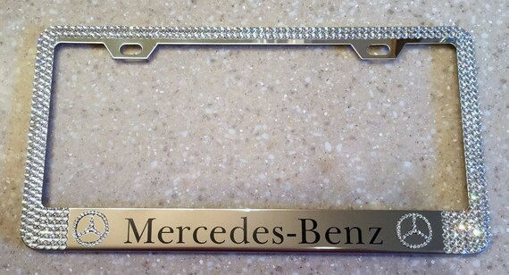 Genuine Swarovski Crystal License Plate Frames