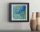 Sunshine Octopus Signed Art Print of Signature Original By Rafi Perez