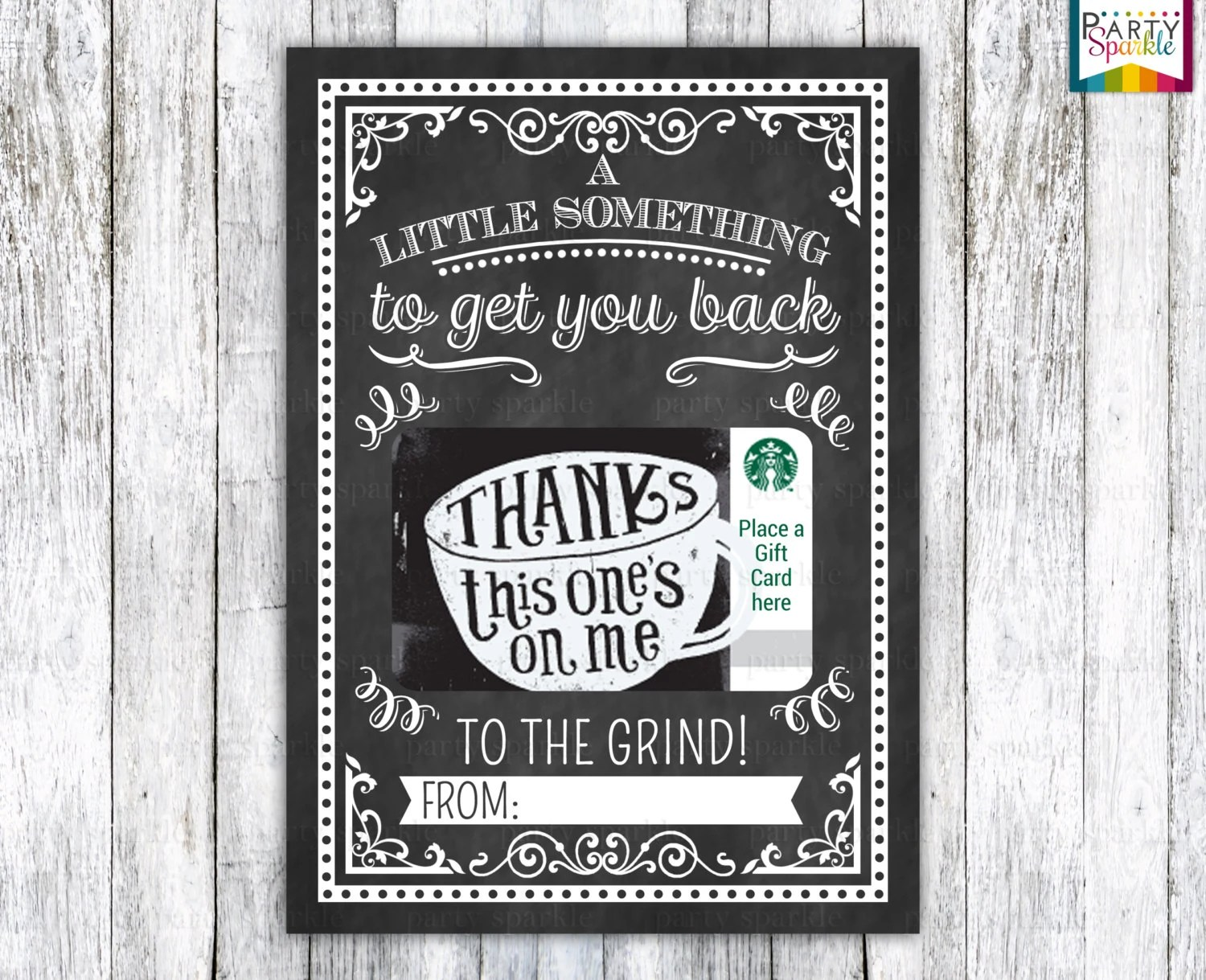 INSTANT DOWNLOAD Back To The Grind Starbucks Coffee Gift