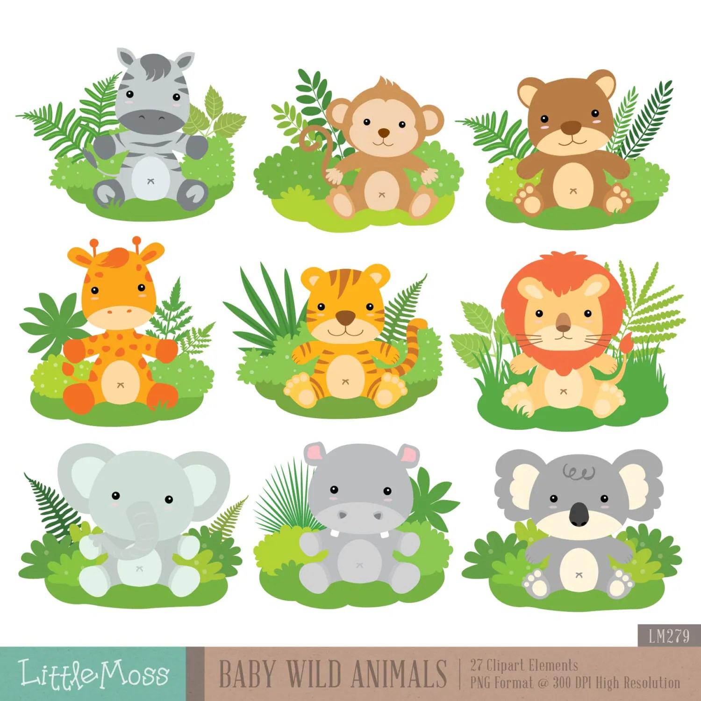 Baby Wild Animals Digital Clipart From Littlemoss On Etsy