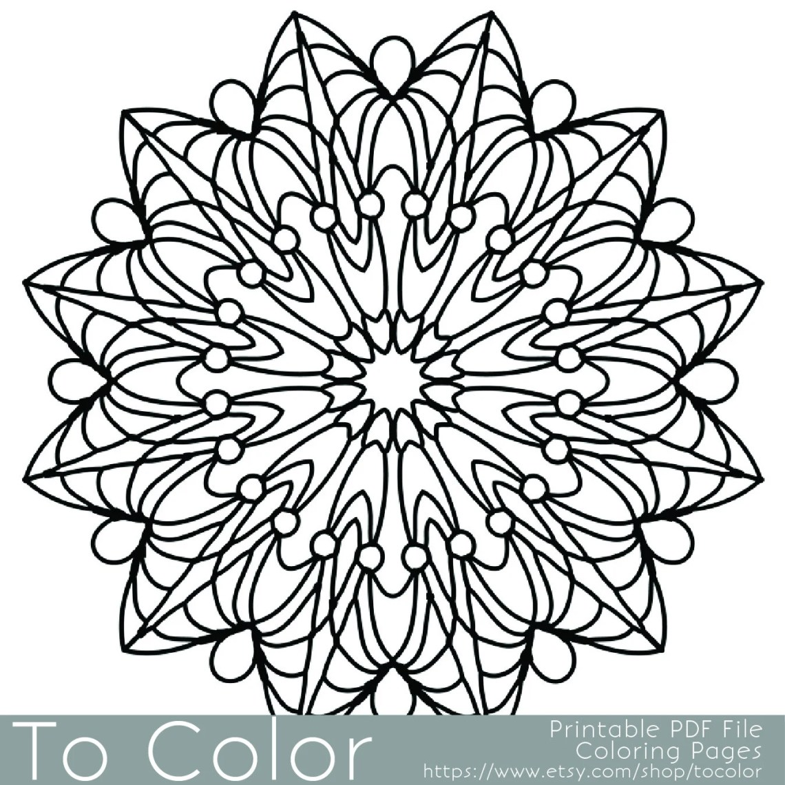 Simple Printable Coloring Pages for Adults Gel Pens Mandala   free printable mandala coloring pages for adults easy