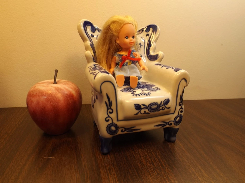 Porcelain Doll Chair Doll House Furniture House Decor