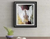 Grunge Angel Signed Art Print of Signature Original By Rafi Perez