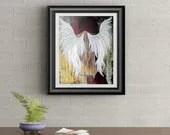 Grunge Angel Signed Art Print of Signature Original By Rafi Perez