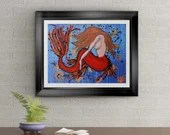 Mermaid Found Signed Art Print of Signature Original By Rafi Perez